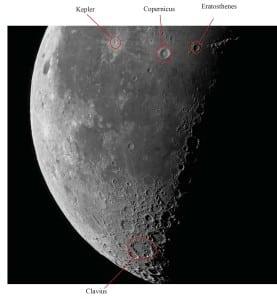 Kraters-in-schaduw