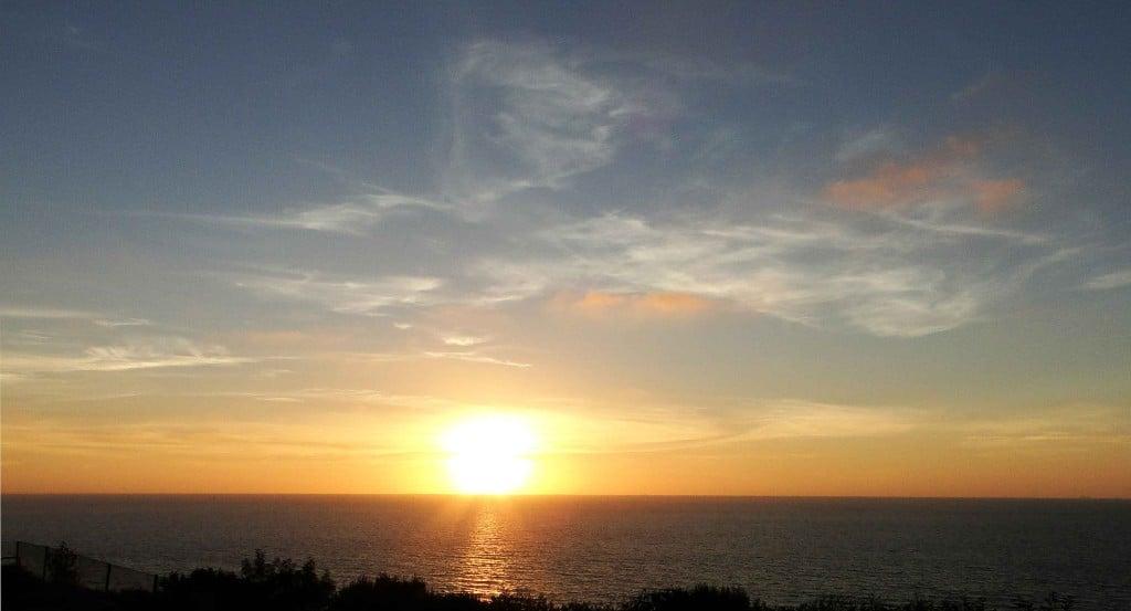 Zonsondergang Le Havre