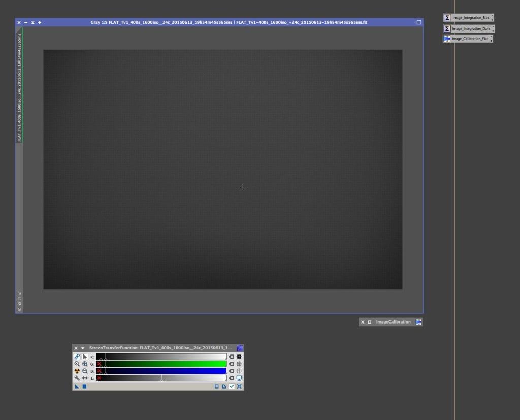 Flat subframe met toegepaste Screen Transfer Function.
