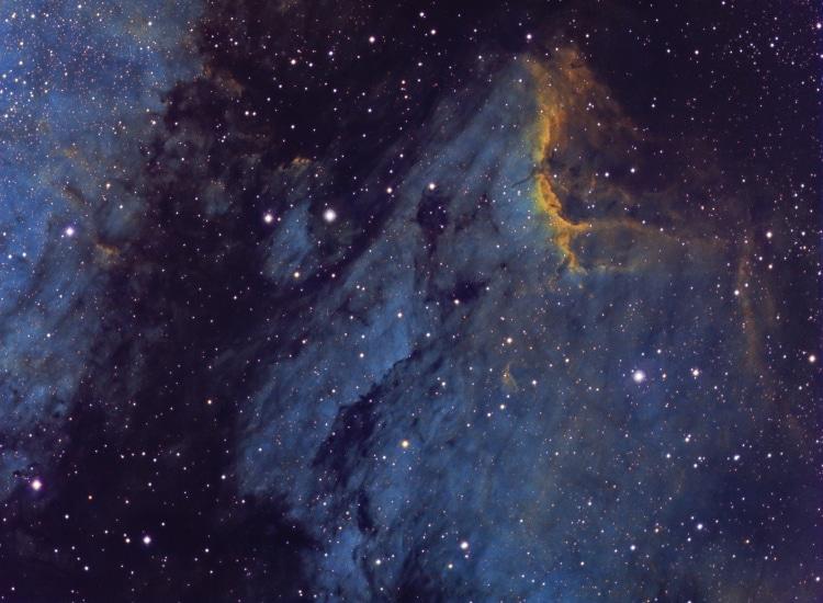 Mijn meest recente foto is van IC5070, in totaal heb ik 9,3 uur belicht verspreid over 5 avonden. Be