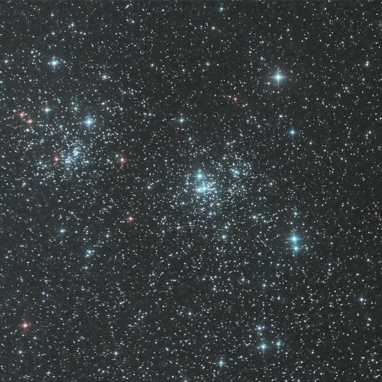 Ik had op 2 oktober als sluitstuk deze opname gemaakt van de dubbele sterrenhoop in Perseus voordat