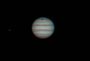 Twee opnamen gemaakt van Jupiter met de TOA 130 , ik had ook de 250mm Newton opgesteld maar de turbu