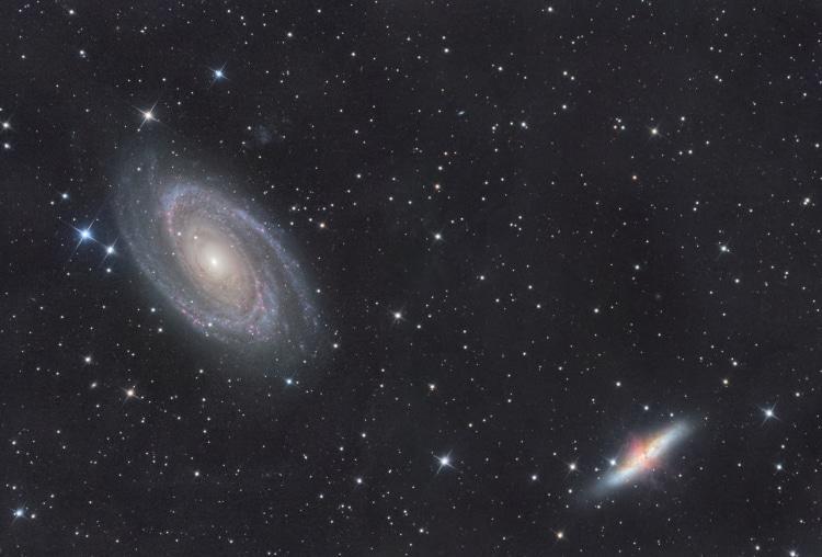 In februari heb ik in meerdere nachten M81 en M82 kunnen schieten. In eerste instantie had ik, met h