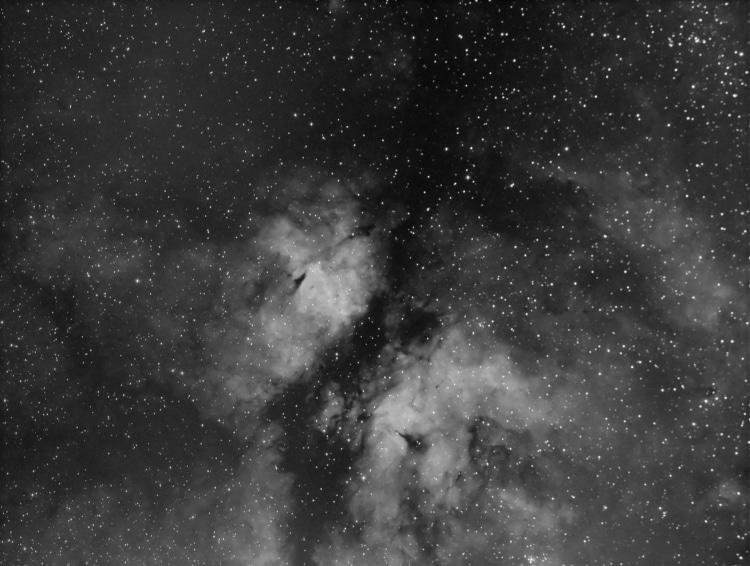 Dit is een opname van IC 1318b een nevel complex in de Zwaan niet ver van Deneb vandaan, het is een