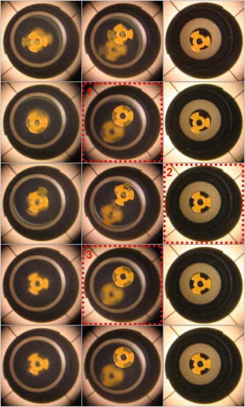 De procedure zoals in bovenstaande animatie, middels foto's
