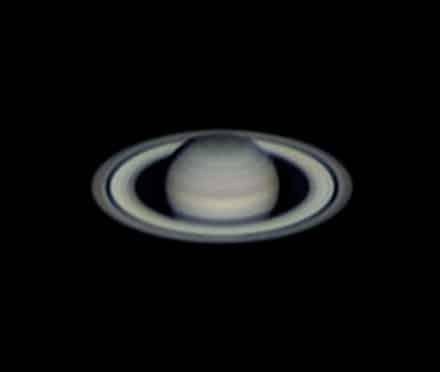 Saturnus gisterenavond. De condities waren goed, zelden zo'n goede mix van seeing en transpara