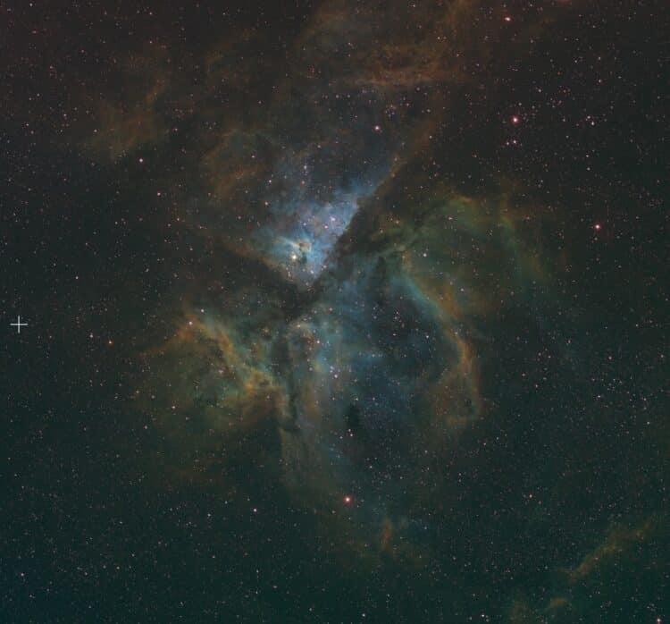 Eta Carinae, van vorig jaar nu in een Hubble palet.EtaCarina_SHO