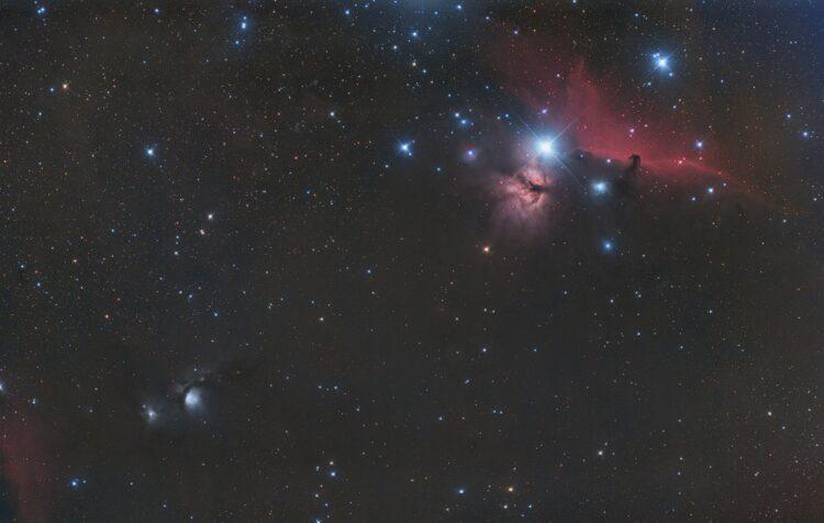 Ook deze data van M42 en M78 dateert van januari. Optiek Takahashi Epsilon E130D F 3,3 en canon 6d f