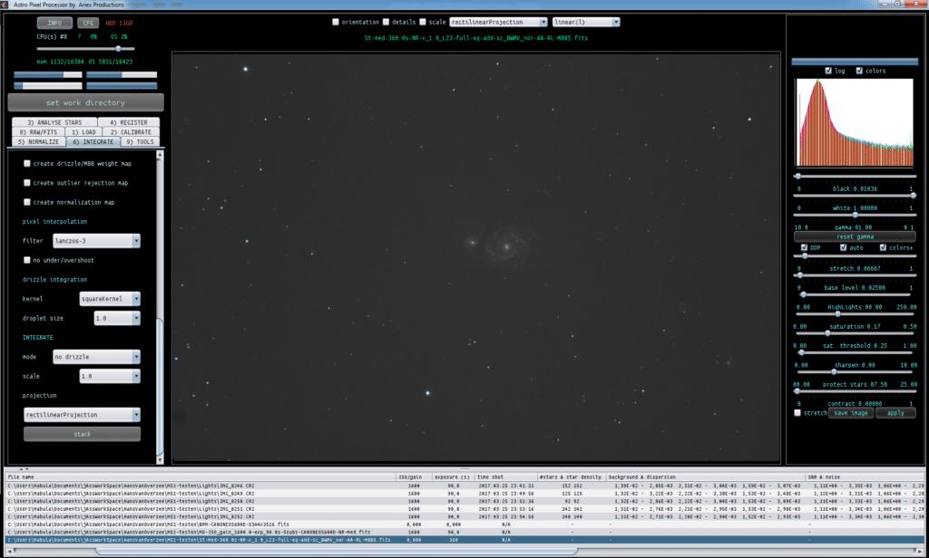 Astro Pixel Processor M51 4x90sec