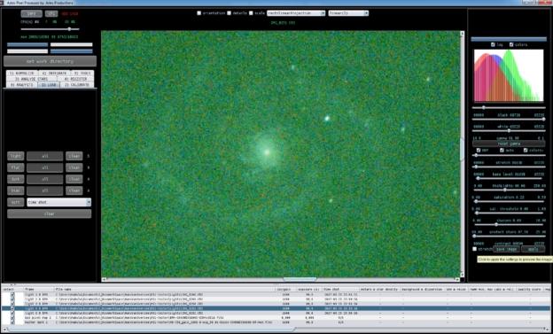 Astro Pixel Processor uncalibrated light frame