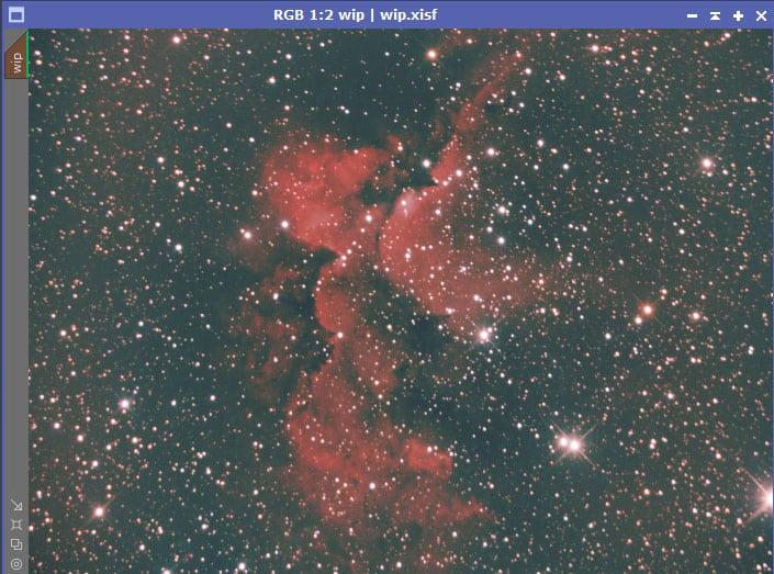 Geachte denktank , daar ben ik weer. Heb van de week de scope gericht gehad op de wizard nebula. HA