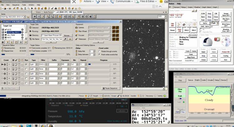 Net op tijd helder voor Supernova SN2018gv…. 20180217-ngc2525