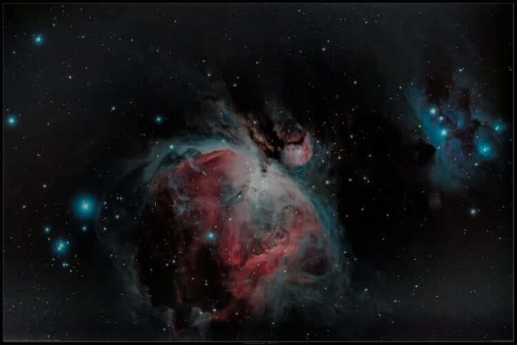 """M42 – Orionnevel en NGC1977 – """"Running Man"""" / Esprit150ED-5.5-60Da-LPS-P2-iso400-Ttot=51m20s"""