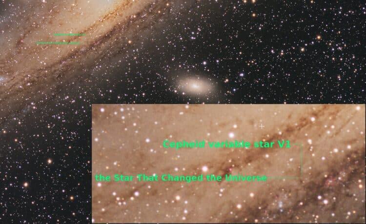 Een variabele ster in Messier 31 zette de astronomische wereld op z'n kop toen Edwin Hubble in