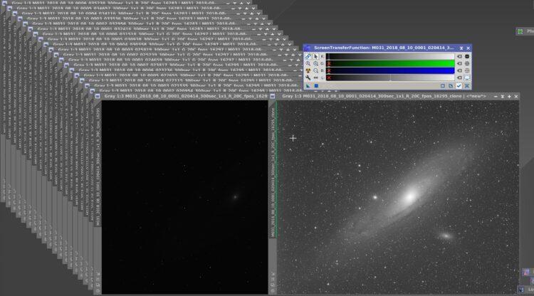 M31 is toch wel het ideale object qua beeldvulling van de QHY16200 CCD in combinatie met 550 mm bran