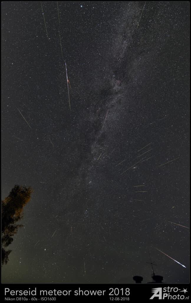 Op de avond van de 12e tot en met 13 augustus heb ik de perseïden meteorenregen vanuit Steinborn in
