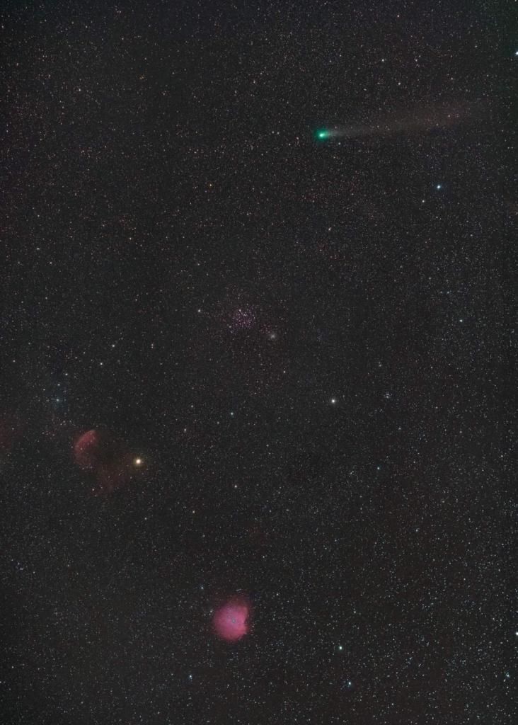 Ook ik heb gisteren eindelijk een glimp mogen opvangen van Komeet Giacobini-Zinner 21/P. Dit keer he