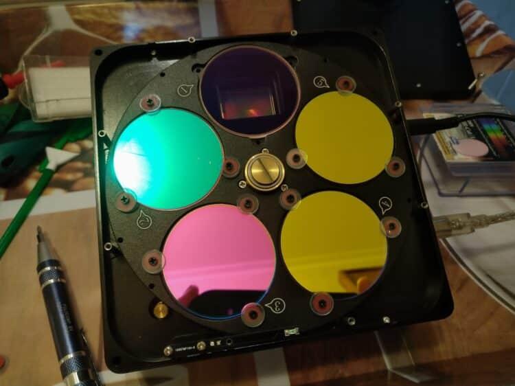 Tot nu toe gebruikte ik een Hutech IDAS-LP2 filter als Luminance filter (Op positie 1), maar vandaag