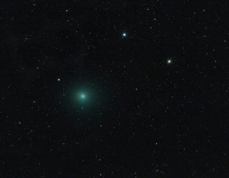 Afgelopen woensdagavond 12 december was het eindelijk eens helder. Op deze avond bereikt de komeet