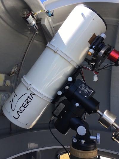 Jazeker. De 10″ f/4 Lacerta newton met ASI1600mm-c op unity gain en -10ºC bias-darks-flats 5x