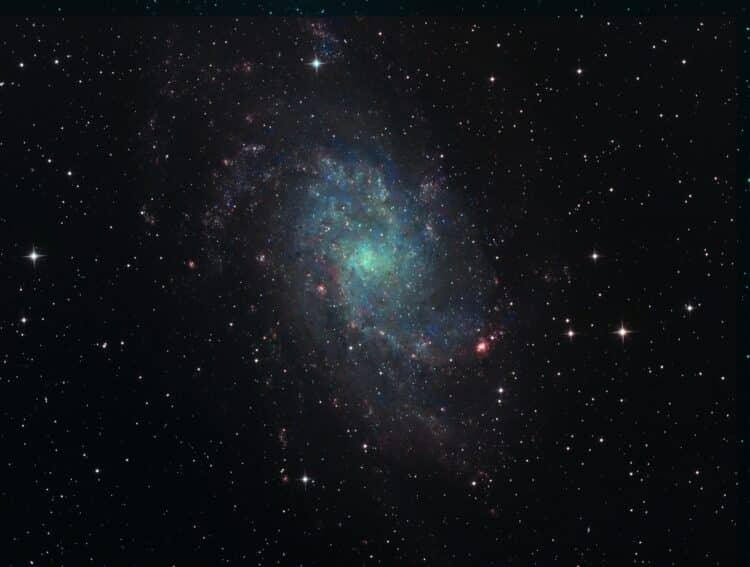 Hier in het bewolkte Ollanda is het met de bijvangst wat droever gesteld dan bij onze Kees. Deze M33