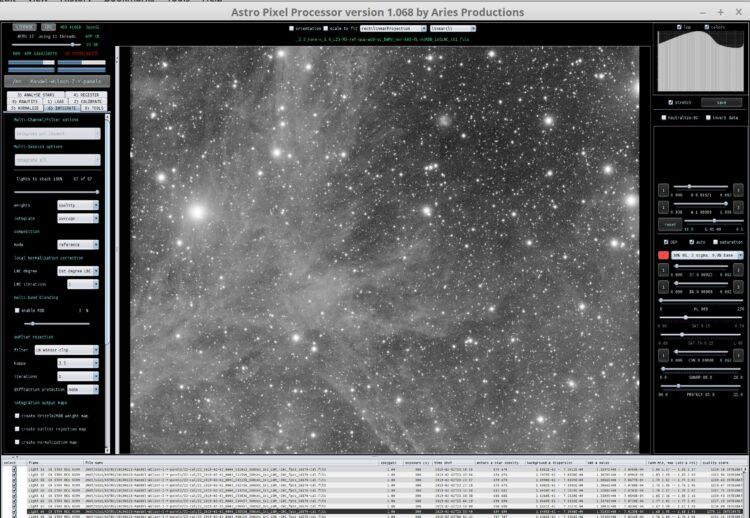 Vannacht is deze data voor de mozaiek uitbreiding binnengekomen, dit is 87x 300 seconden Luminance v