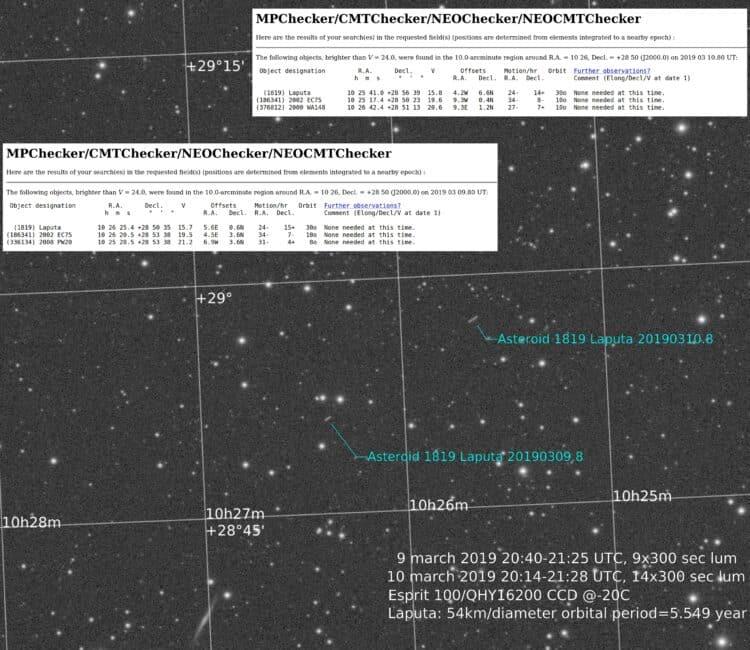 """Bijvangst bij vervolgopnamen van Supernova 2019np in NGC3254. Ik maak altijd een """"no reject&#8"""