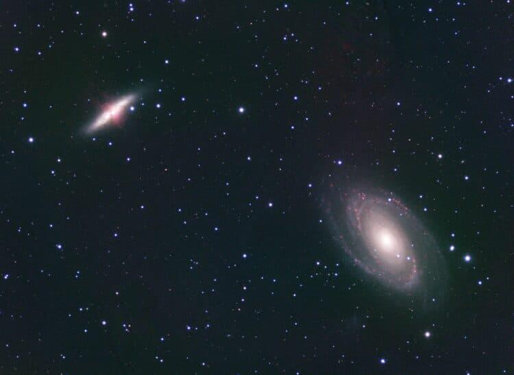 Een paar nachtjes M81/82 data verzameld (B0destelsel) gedurende de afgelopen heldere periode in Limm