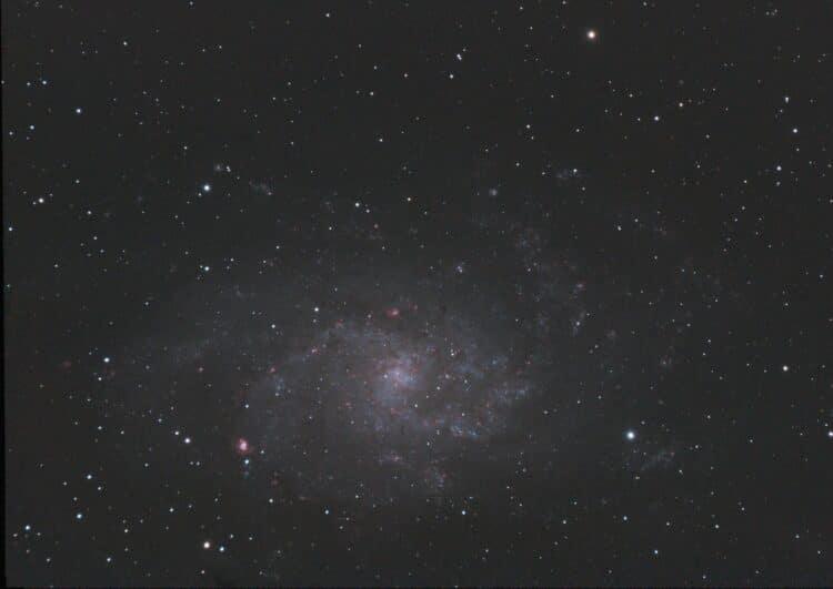Na de helaas bewolkte Starparty in Wateren heb ik M33 (Driehoeknevel) in de nacht van 29 oktober uit