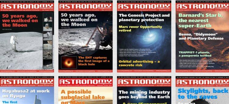 Een prima Astronomie blad dat als PDF te downloaden is vanaf deze website. Het bestaat al zo'n
