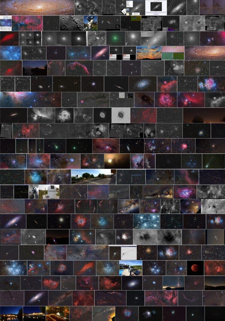 Als nieuwjaarswens een terugblik op mijn astrofoto's 2015-2019 via een montage van de Flickr P