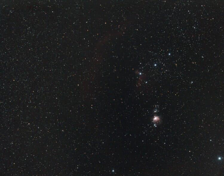Ik heb nog een plaatje gemaakt van een gedeelte van het Sterrenbeeld Orion op 30 december met mijn O