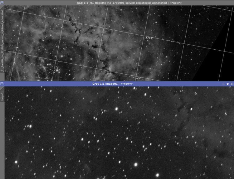 Hans, de sterstrepen staan in de Dec richting. Zie vergelijking met een opname van mij met grid. Dat