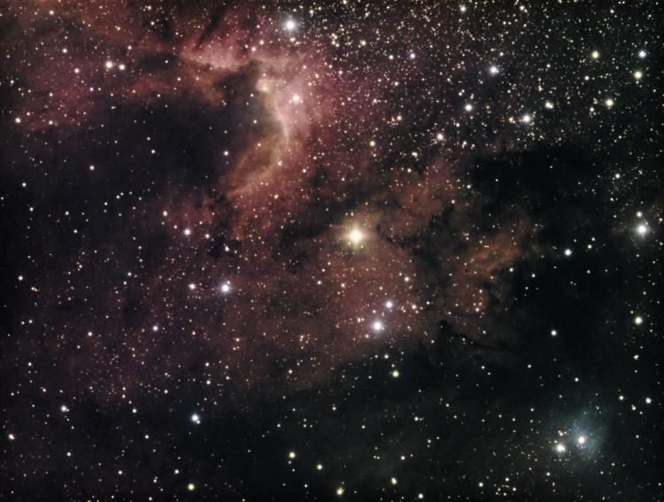 Hoi Kees, Ik had per ongeluk de optie LRGBSHO (als ik het goed heb, is dit het Hubble palette met to