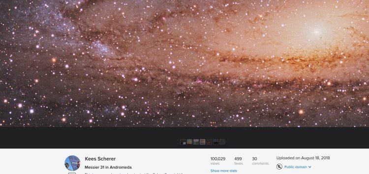 Mijn eerste astro foto op Flickr met 100.000+ views. Duurde 2.5 jaar en mijn verbeterde versie uit 2