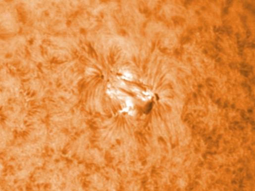 Vanwege het zonnevlekken-onderzoek gaat iedere keer als de zon schijnt (en ik thuis ben) even het da